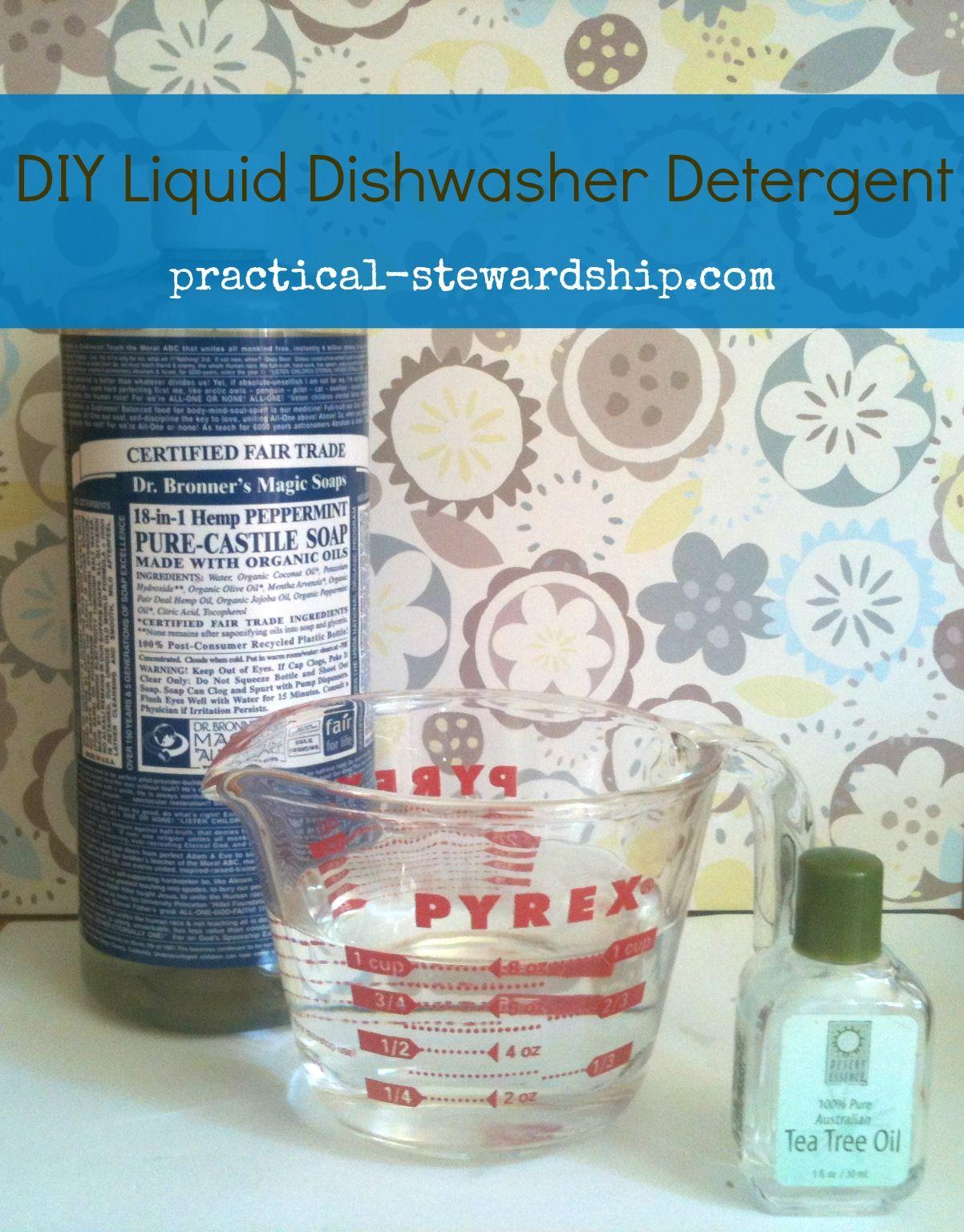Diy Liquid Dishwasher Detergent Practical Stewardship Com
