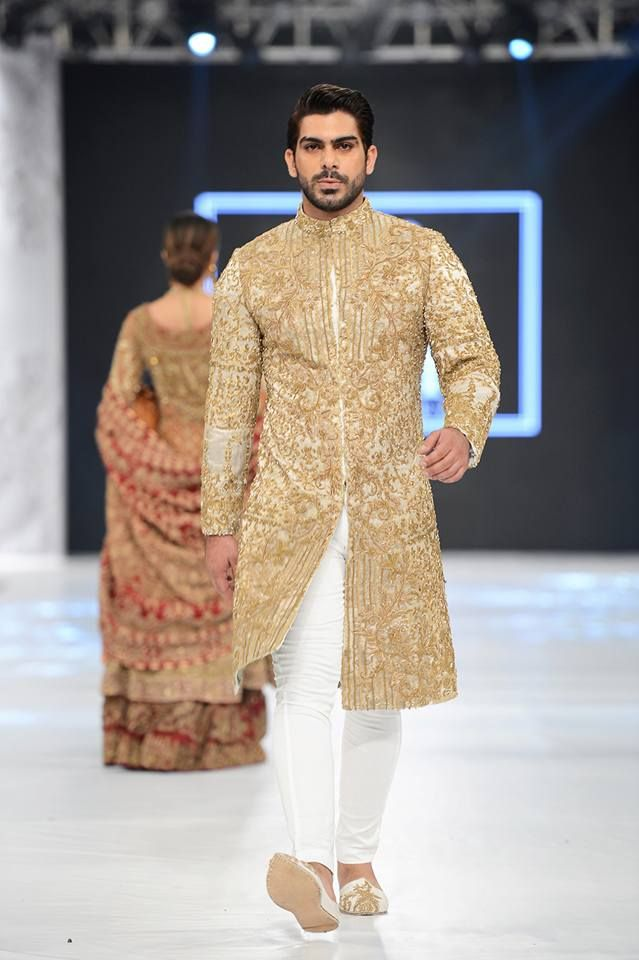 aabc38be35 HSY white and gold embroidered sherwani designs 2016-2017 | Indian fashion  in 2019 | Wedding dress men, Pakistani wedding dresses, Wedding men
