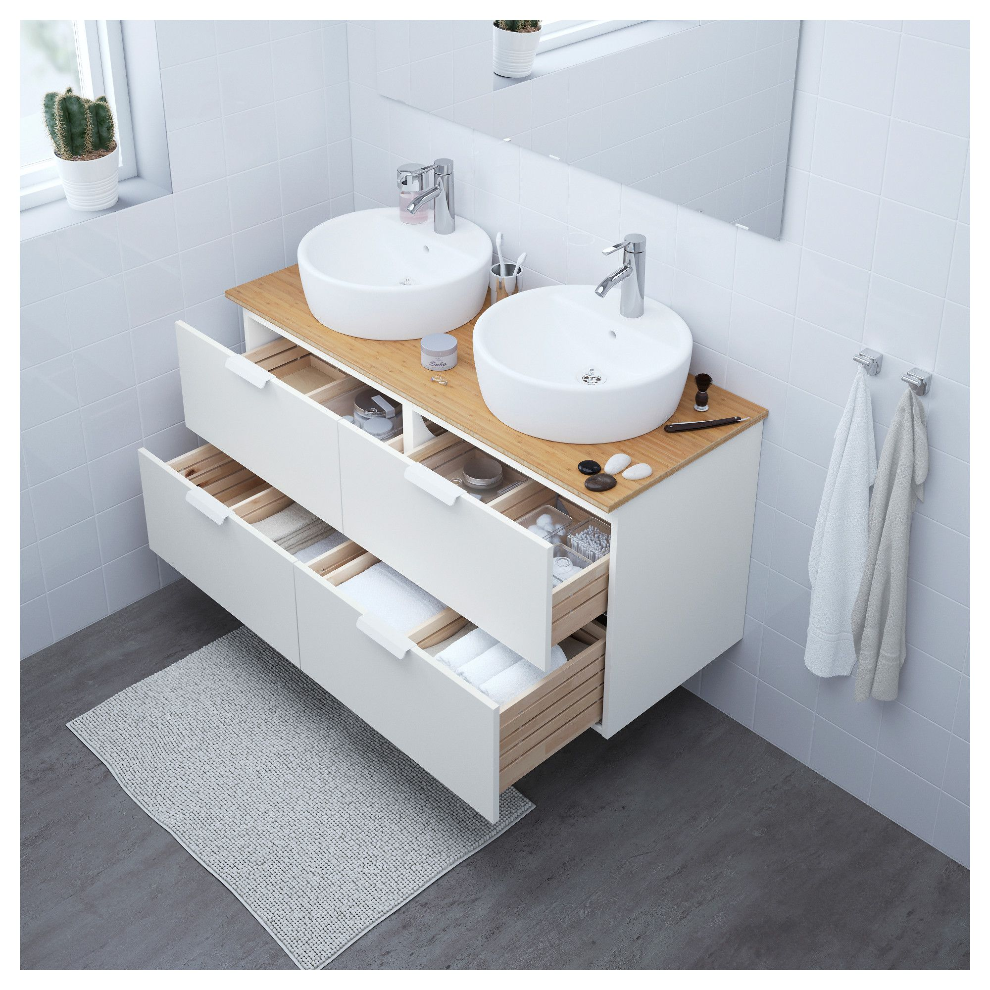 Us Furniture And Home Furnishings White Vanity Bathroom