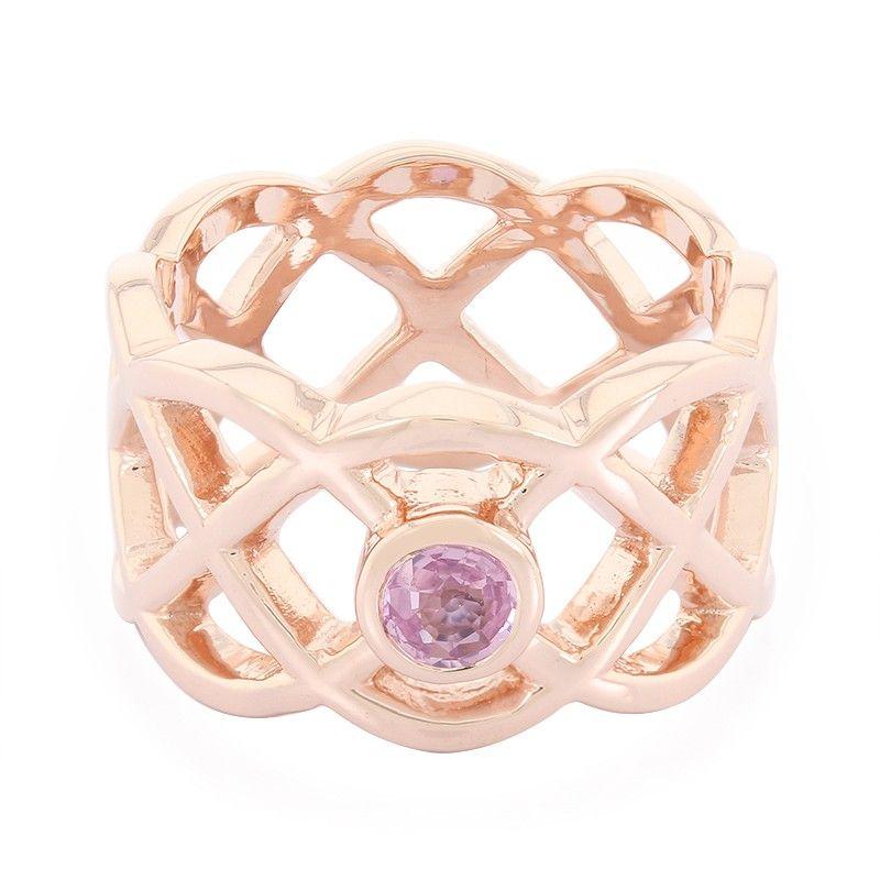 bb401cb1a96842 Bague pour femme sertie d un Saphir rose de Ceylan - Les bijoux en argent  de Juwelo votre bijouterie en ligne