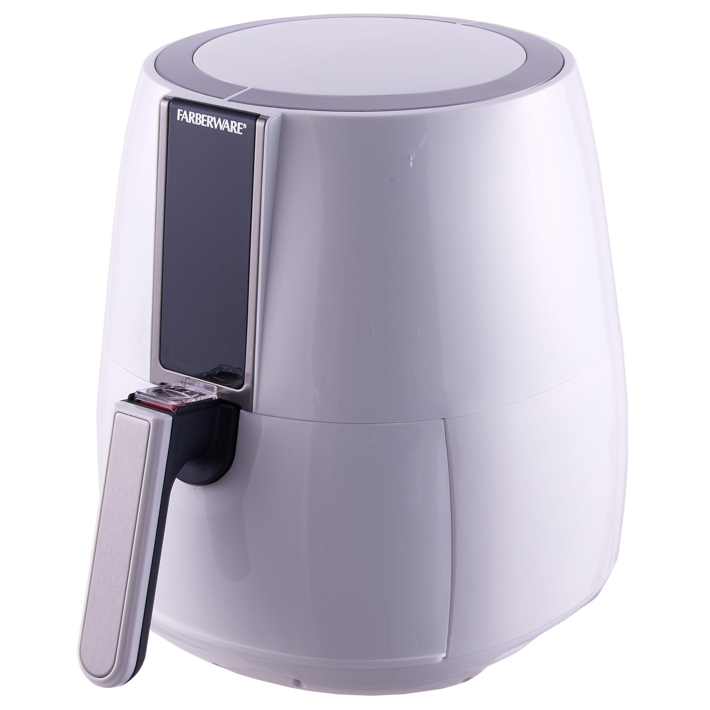 Farberware 3 2 Quart Digital Air Fryer Oil Less White Walmart Com Oil Less Fryer Farberware Coconut Oil For Acne