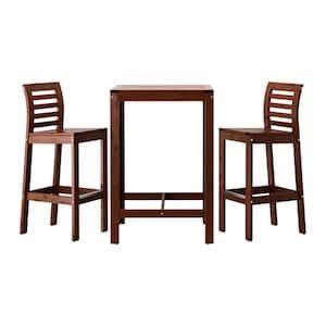 ÄPPLARÖ Tavolo e 2 sgabelli bar marrone mordente marrone