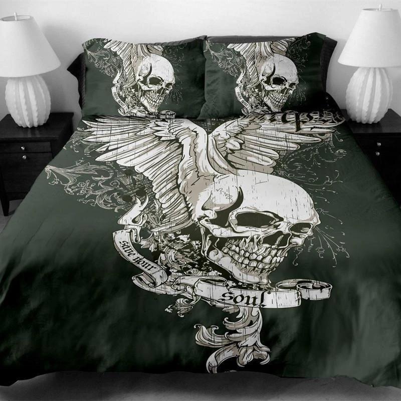 Skull Bedding Skullflow With Images Skull Bedding Sets Skull Bedding Bed Linen Design