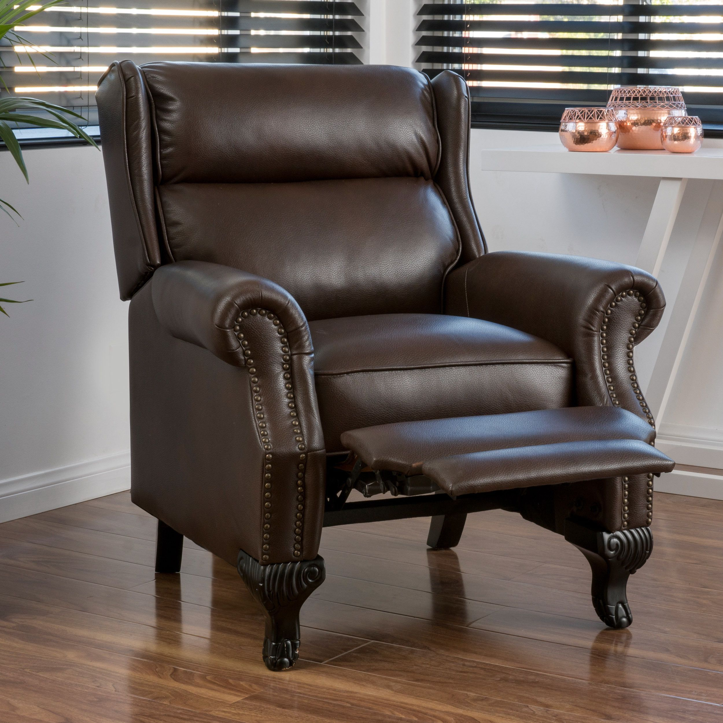 Tauris PU Leather Recliner Club Chair by Christopher Knight