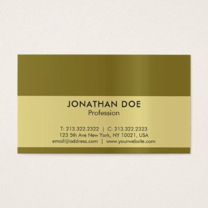 Modern Professional Creative Black And Gold Luxe Business Card   Architect  Gifts Architects Business Diy Unique Create Your Own