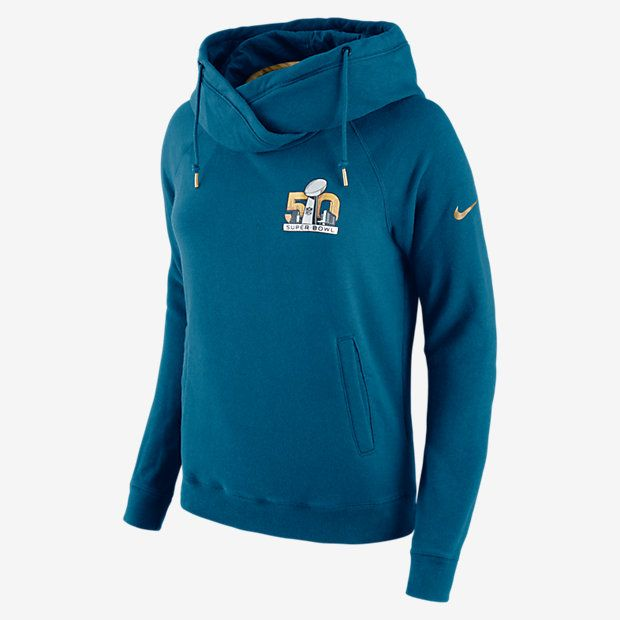 SB50 Nike Rally Funnel Neck Pullover (NFL) Women's Hoodie - Boutiqify