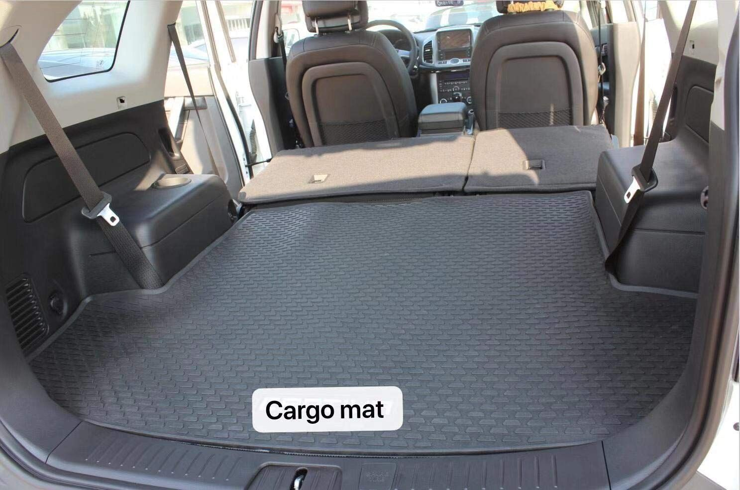 Kaungka Rubber Cargo Liner Rear Cargo Tray Trunk Floor Mat