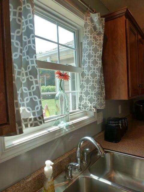 No Sew Curtains #diy Kitchen decor Pinterest Shower curtain