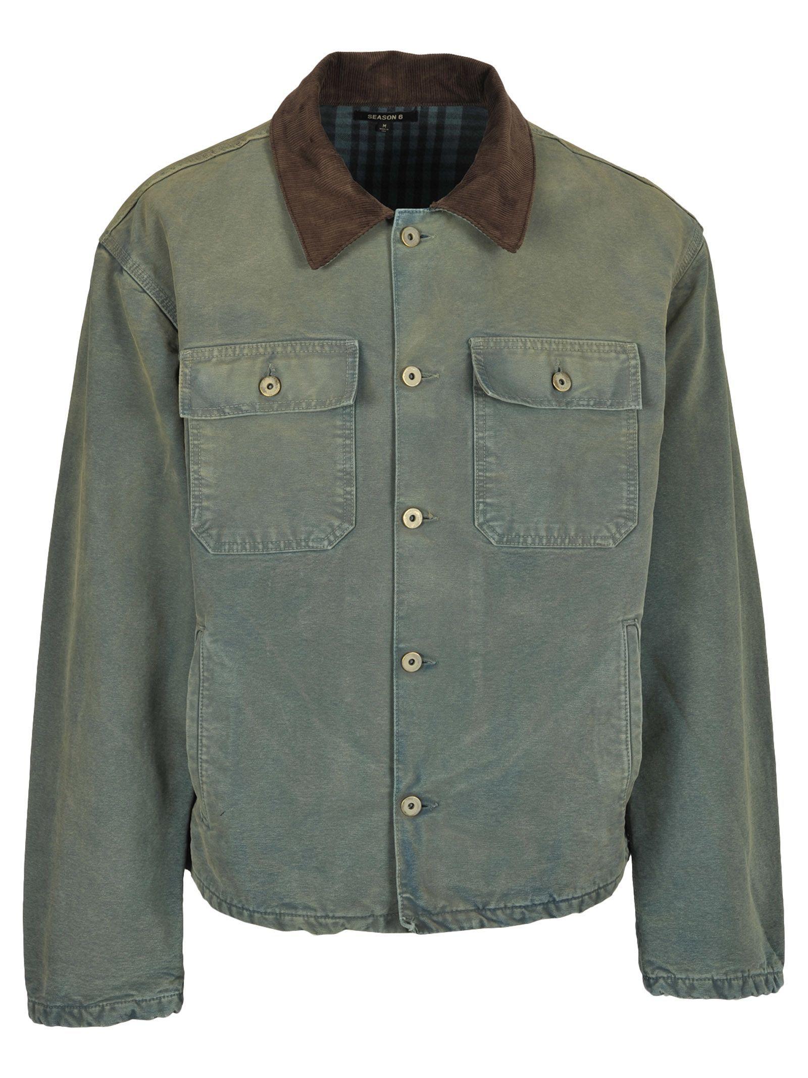 Yeezy Kanye West Canvas Jacket In Light Blue Modesens Jackets Canvas Jacket Yeezy