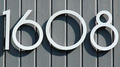 SoCal Font From Modernhousenumberscom House Numbers Pinterest - Contemporary house numbers