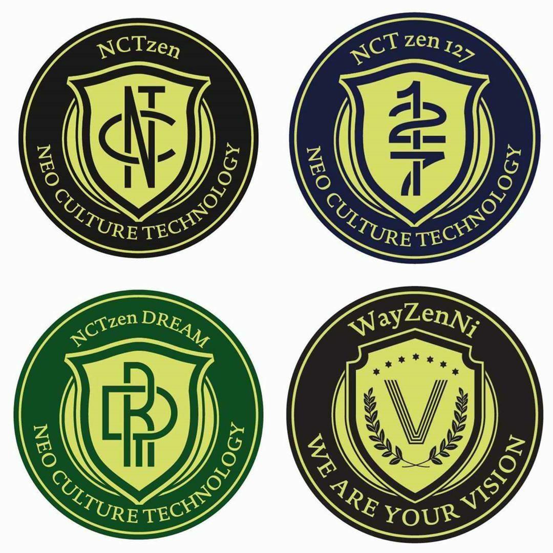 Logo NCTZEN/WayZenNi | Desain stiker, Stiker, Nct
