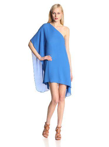 BCBGMAXAZRIA Women's Alana Side Drape Dress, Larkspur Blue, Medium - http://goo.gl/k7I8LJ