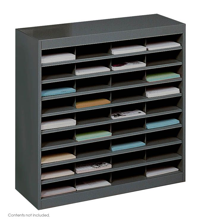 Steel 36 Compartment Letter Size Literature Organizer By Safco Office Furniture