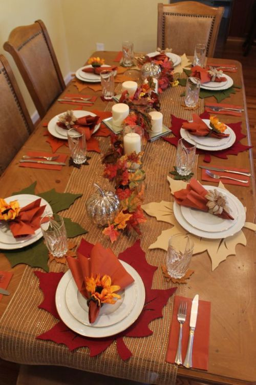 Fall Table Setting for 8 for less than $85