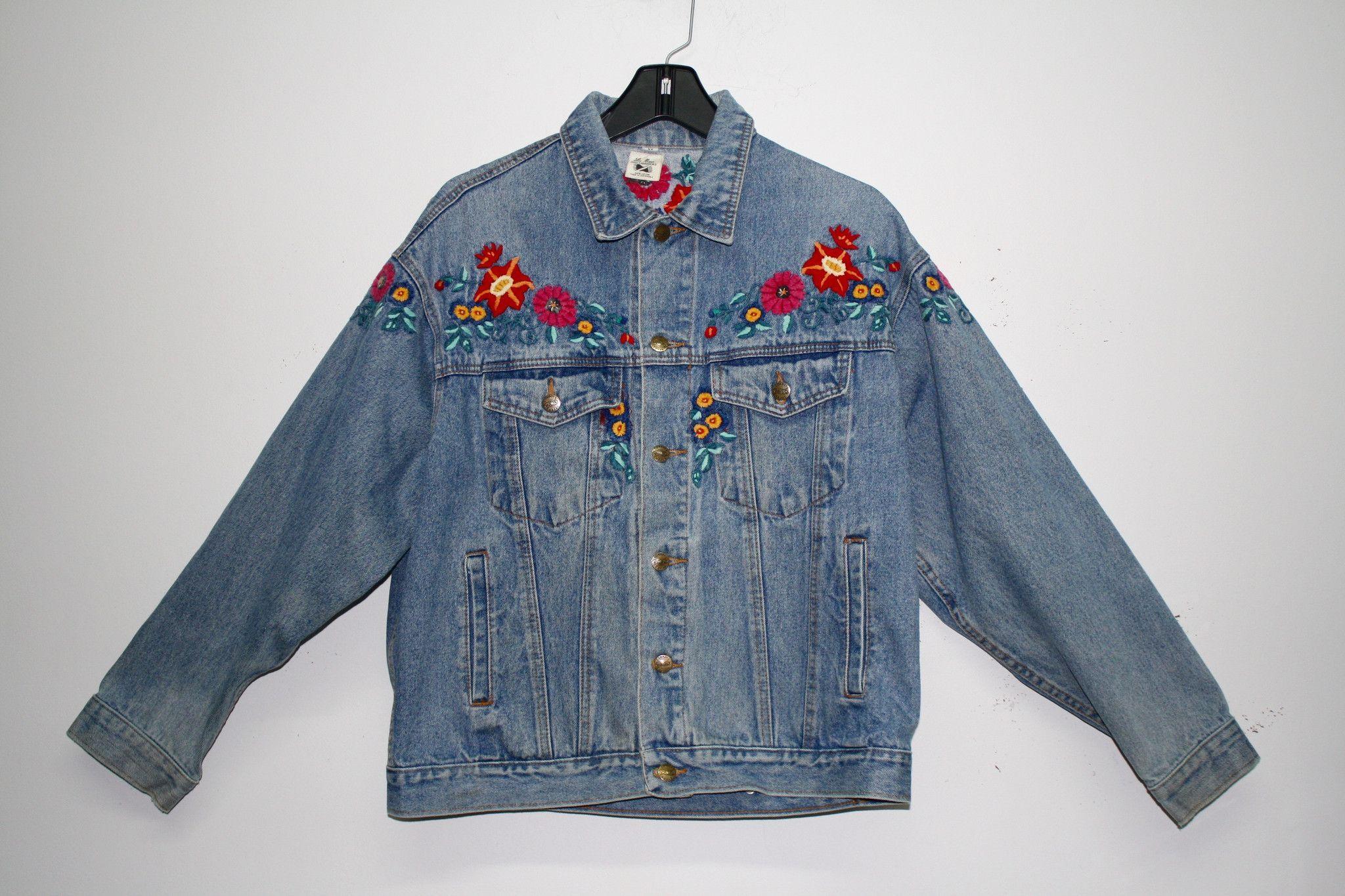 Floral Denim Jacket