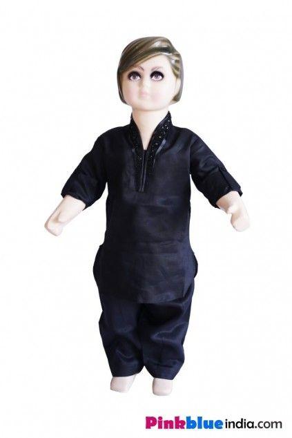 Ihram Kids For Sale Dubai: Buy Indian Ethnic Wear Black Kurta Pyjama For Baby Boy