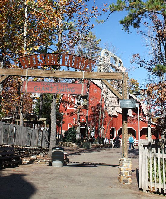 The Giant Barn Swing At Silver Dollar City Branson Missouri Silver Dollar City Old Time Christmas Favorite Places