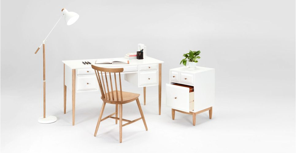 Willow un bureau chêne et blanc bureau chene