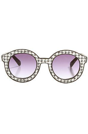 Quay Eyewear Sunglasses Glomesh Round Frames in Sparkly Houndstooth: Miss KL #MissKL #MissKLCoachella