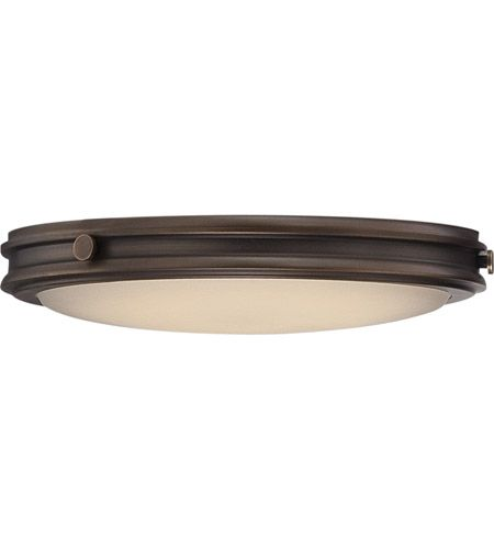 Nuvo 62 301 Houston LED 12 Inch Rustic Brass Flush Mount Ceiling Light