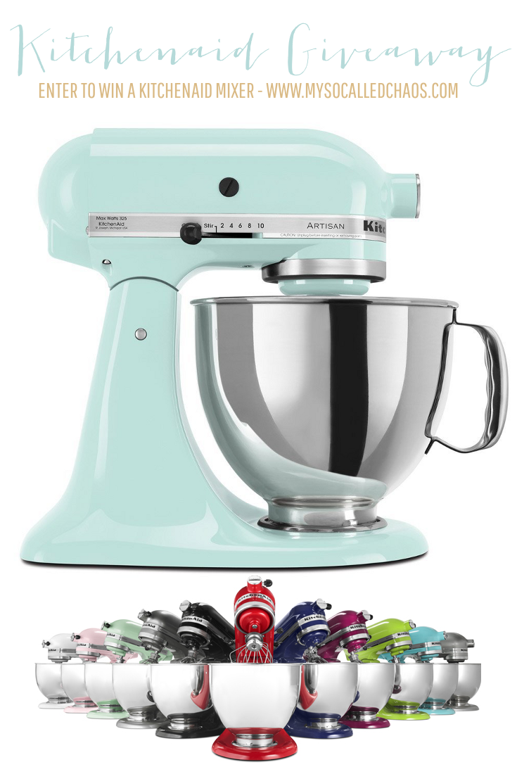 A Kitchenaid Stand Mixer Holiday Giveaway