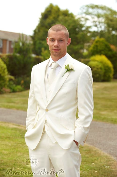 white wedding suit | Fashion Belief | men | Pinterest | Wedding ...