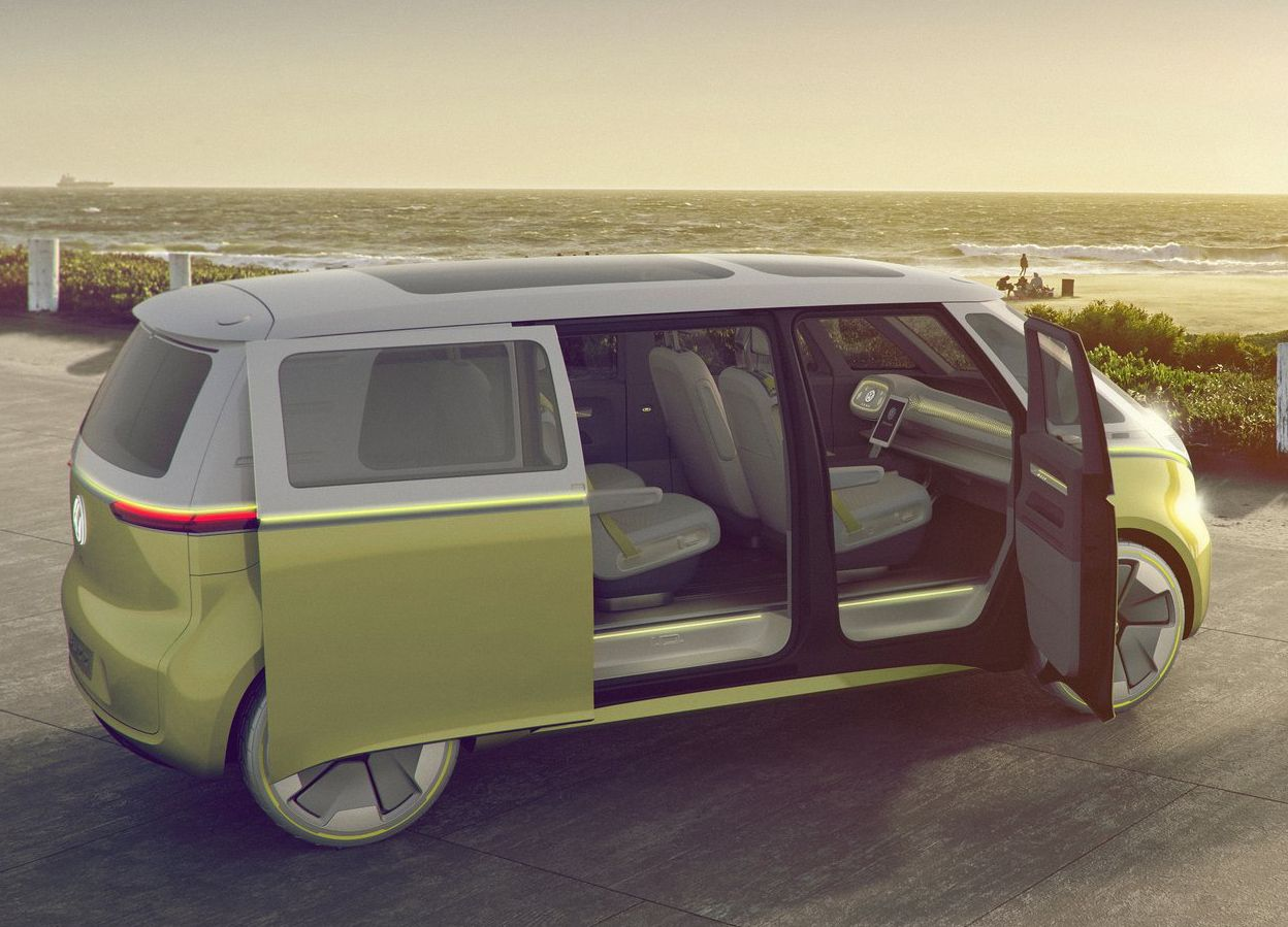id buzz concept car Volkswagen porte coulissantes