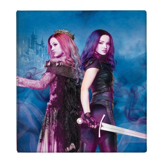 Descendants 3 | Mal & Audrey - Wicked Showdown 3 Ring Binder | Zazzle.com #descendants3