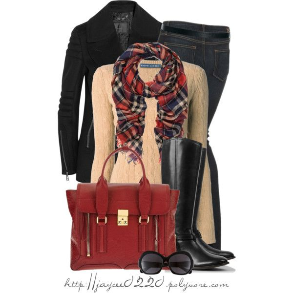 """Plaid, Black and Red"", created by jaycee0220 on Polyvore"