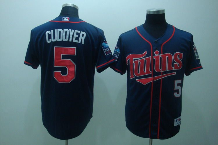 f431a900a3f ... 50TH Season Patch Man MLB Jersey MLB Jerseys Minnesota Twins Michael  Cuddyer 5 Blue Reliable online store for cheap MLB Minnesota ...