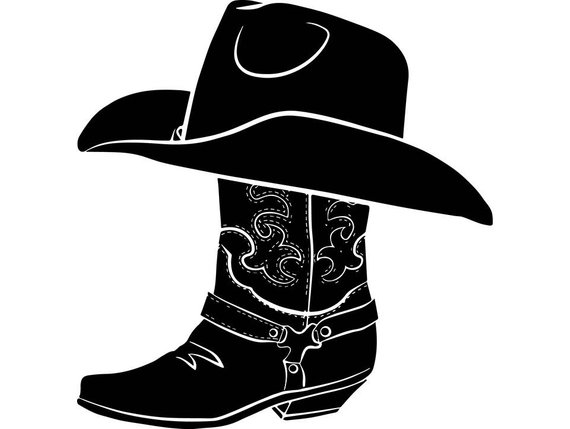 Cowboy Western Hat Boots Country Texas Rodeo American Rancher Sheriff Svg Eps Png Vector Clipar Cowboy Cowboy Hats Boots