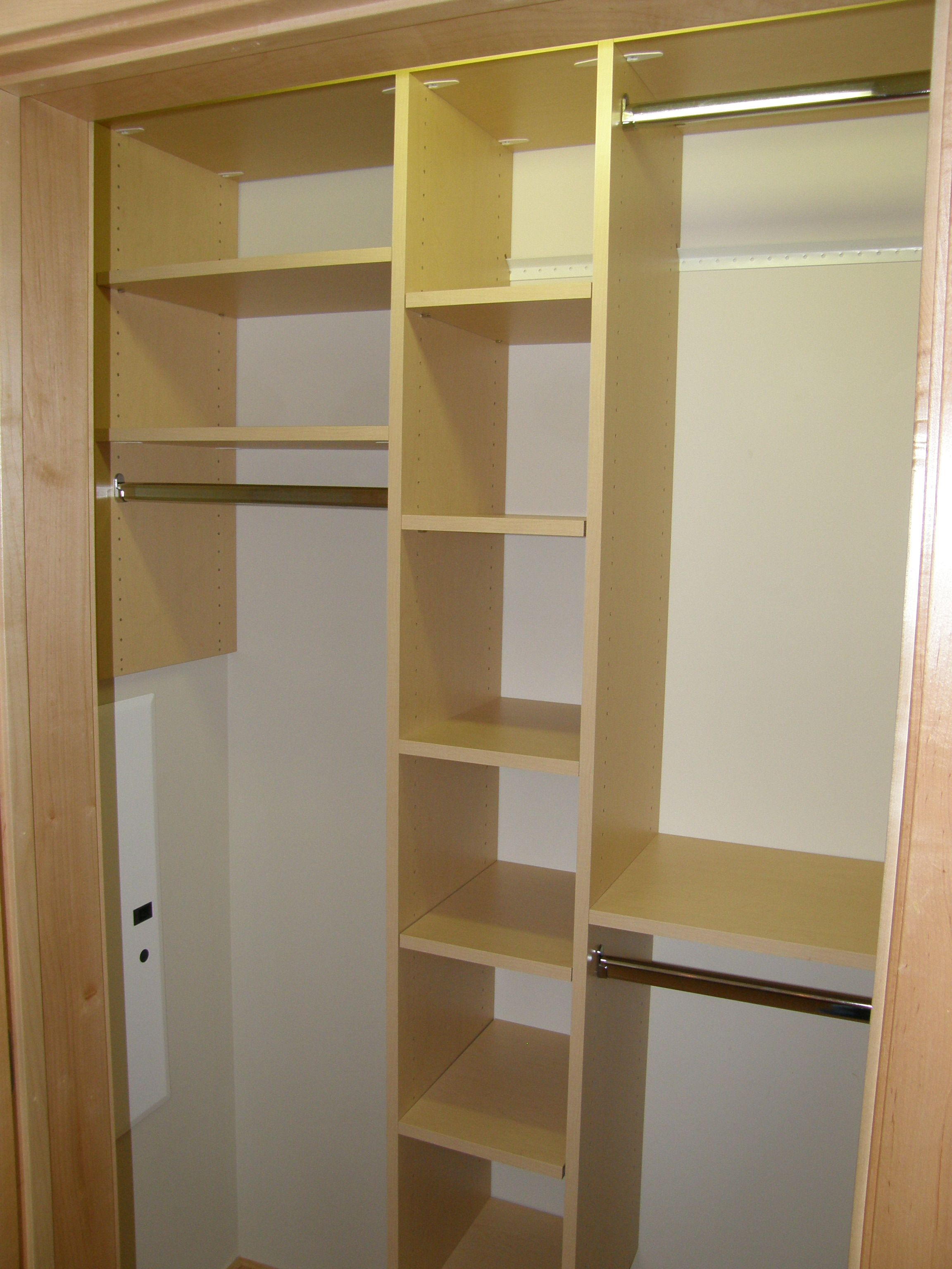 Front Entry Custom Organization By Closets For Life   Multiple Closet Rods  At Different Heights Make It Easy For Both Parents And Children To Hang Up  Their ...