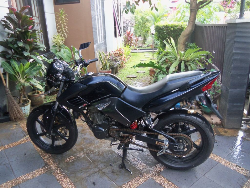 Honda Tiger 2008 Hitam Modifikasi Monoshock Modifikasi Motor