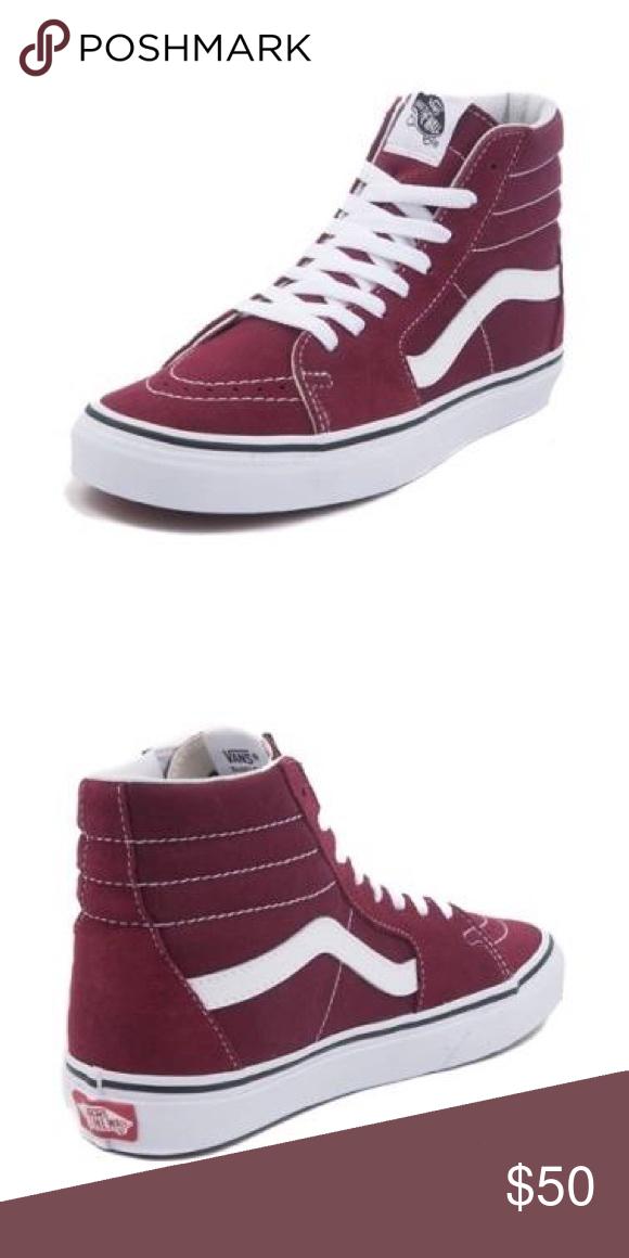 f86f260b4f Vans Women s Sz 8 High Top Sneaker Burgundy+White Women s Vans Size 8 High  Top sneakers