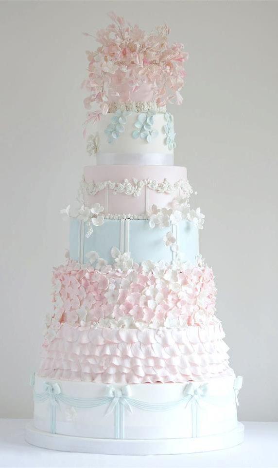Pastel Tiered Wedding Cake Slub Pinterest Cake Wedding - Pastel Pink Wedding Cake