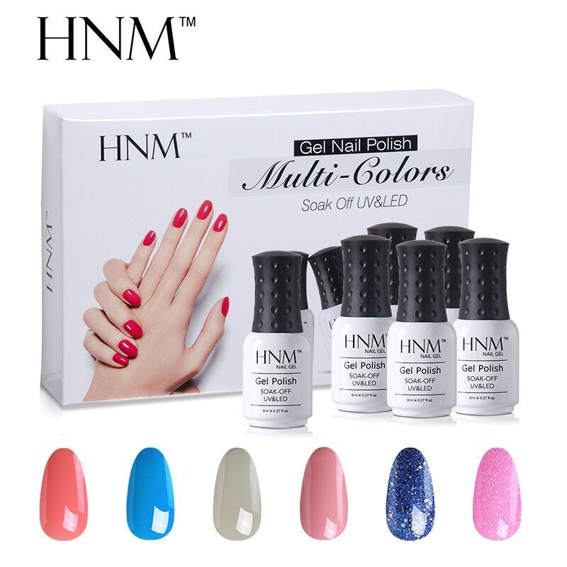 Hnm 6pcs Lot Gel Polish 10 Series 1pcs 8ml Semi Permanent Manicure Uv Soak Off Diy 6pcs Lot Polish Series 1pcs Nail Polish Nail Polish Painting Nail Kit