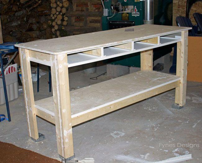 Work Bench Ideas Part - 44: Craft Room Workbench