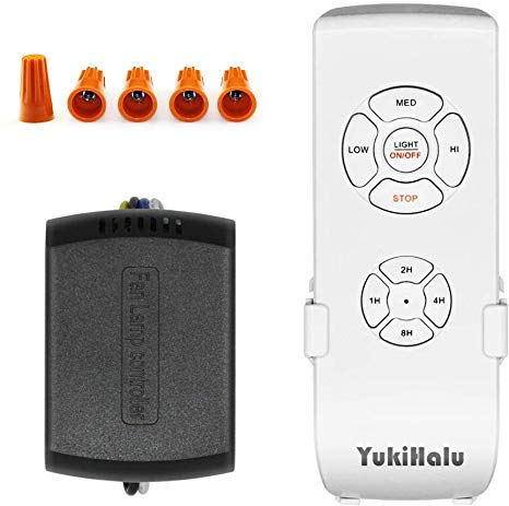 Yukihalu 3 In 1 Small Size Universal Ceiling Fan Remote Control Kit With Light And Timing Wireles In 2020 Ceiling Fan With Remote Ceiling Fan Remote Controls Fan Lamp