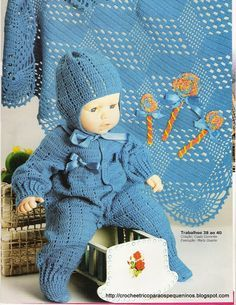 As Receitas de Crochê: Manta e macacão em croche