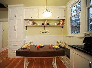 Seating Area With Drop Leaf Table Traditional Kitchen San