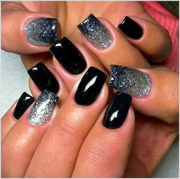 Image result for purple and black nails - Image Result For Purple And Black Nails Nail Art Pinterest