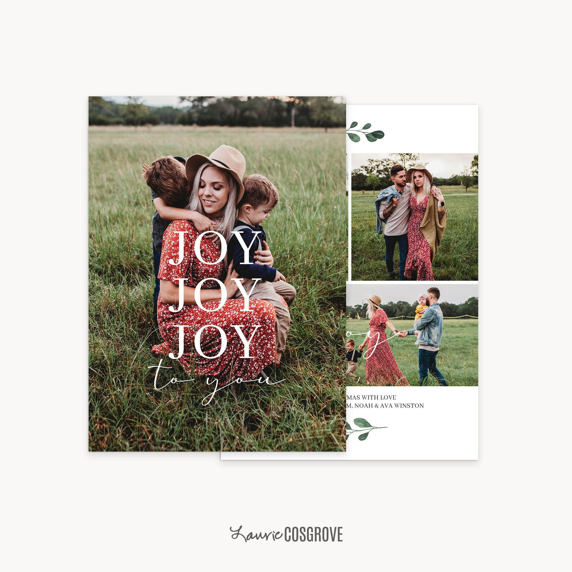 2020 Christmas Card Template 5x7 Holiday Card Template For Etsy Holiday Card Template Christmas Card Template Card Template