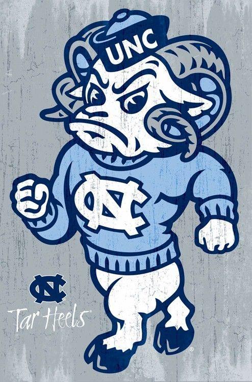 carolina tarheels | North Carolina Tar Heels Poster Ramses 22x34 NCAA University College ...