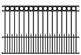 Sonoma Wrought Iron Fence Panel 4 Rail