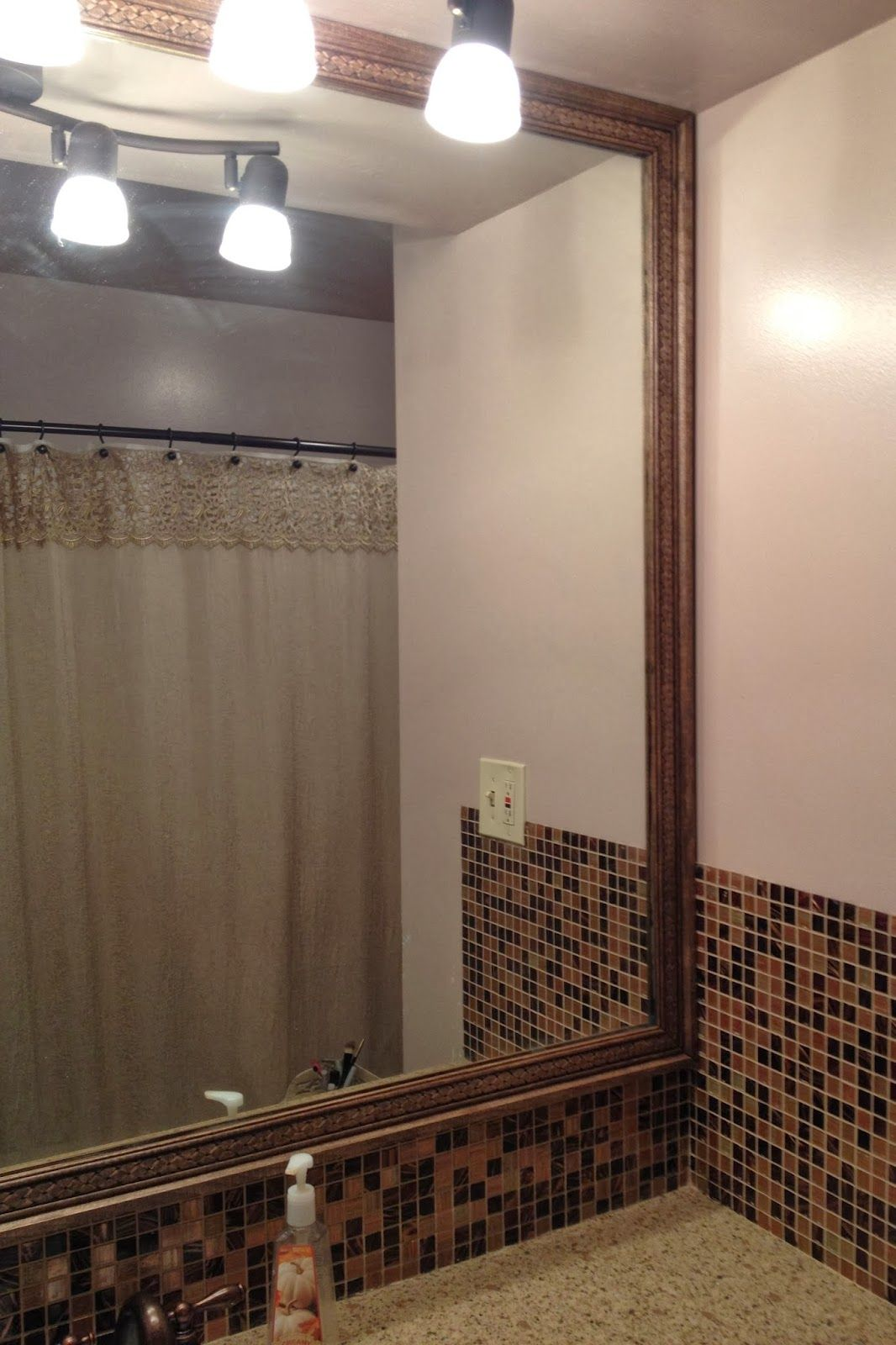 How to add decorative trim to a bathroom mirror ...