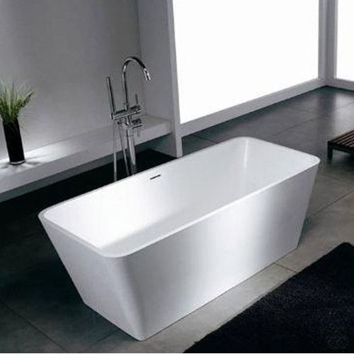 "Found it at Wayfair - Blanc 58.25"" x 26.38"" Artificial Stone Freestanding Bathtub"