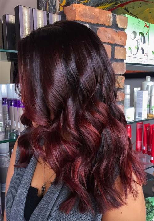 100 Badass Red Hair Colors Auburn Cherry Copper Burgundy Hair Shades With Images Wine Hair Color Wine Hair