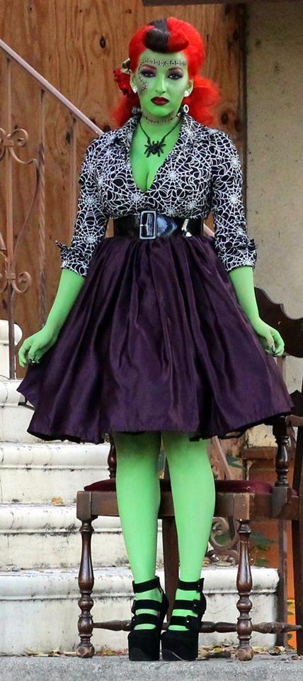 Pinup Zombie Makeup Ideas style Pinterest Zombie makeup - green dress halloween costume ideas