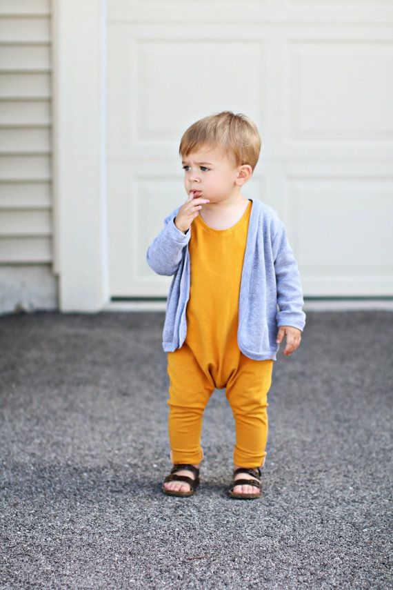 Mustard Baby Romper Baby Boyromper Toddler Boy Romper Girl