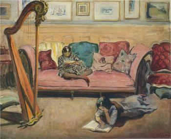 Interior with Harp - Henri Lebasque - The Athenaeum